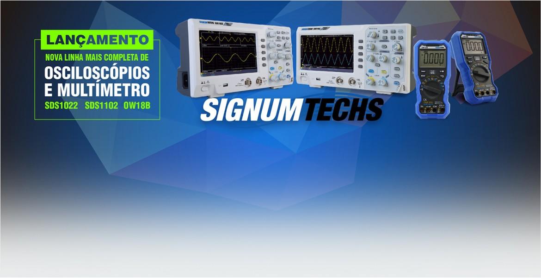 Osciloscópios e Multímetros Signumtechs SDS1022 SDS1102 OW18B
