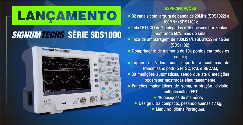 Osciloscópios e Multímetro SDS1022 SDS1102 OW18B