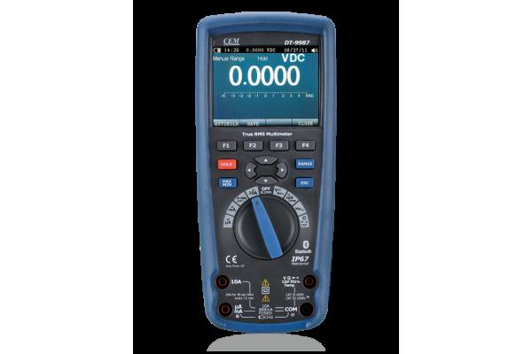 Multimetro Digital Portátil CEM DT-9987 True-RMS com Visor LCD Colorido TFT
