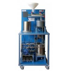 Unidade de extração de líquido-sólido controlada por computador Edibon UESLC